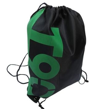 Green T90 Double Layer Drawstring Waterproof Gym Bag