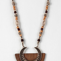 Moonrise Wood Accent Necklace