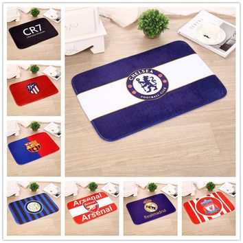 Autumn Fall welcome door mat doormat 40cmx60cm World Cup Team Painting Rug Bathroom Non-slip Carpet Soft Flannel Tapete Living Room  Onsale AT_76_7
