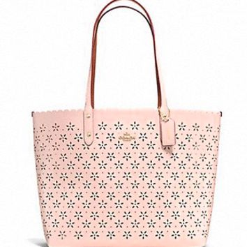 Coach City Tote in Laser Cut Leather