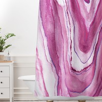 Agate Inspired Watercolor 08 Shower Curtain And Mat Viviana Gonzalez