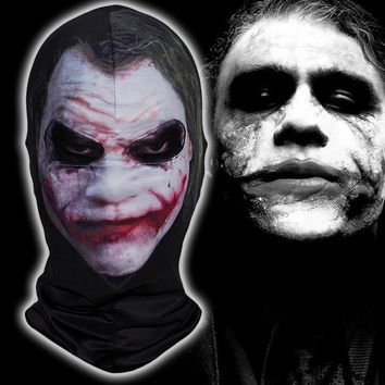 Batman Clown Joker Mask Halloween Balaclava Costume Cosplay Movie Party Thriller Jester Motorcycle Full Face Mask