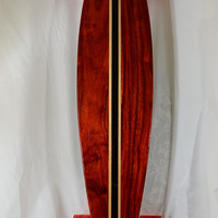 Handcrafted Longboard Pintail Cruiser Paduk Beautiful coloring...