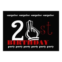 21st SURPRISE Birthday Party Invitation Template from Zazzle.com