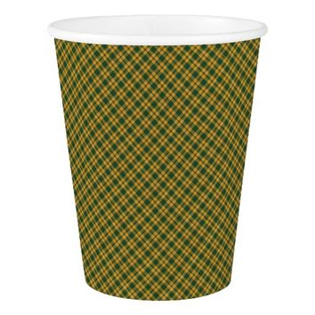 Christmas Plaid 22-PAPER CUPS