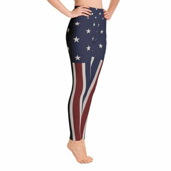 American flag Leggings - 4th of July Leggings - Fourth of July Leggings - Patriotic Leggings - USA