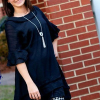 Adorn Black Tunic Heritage Dress S- XL