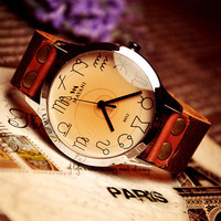 Mens Leather Wrist Watch (WAT0024)