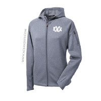 Monogrammed Hooded Sport Jacket - Gray