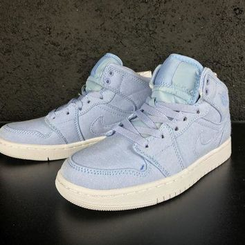 UCANUJ3V Air Jordan 1 Retro AJ1 30th GG Ice Blue Women Sneaker