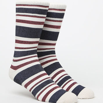 On The Byas Culture Striped Crew Socks at PacSun.com