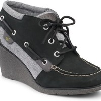 Sperry Top-Sider Hadley Wedge Bootie Black, Size 7M  Women's Shoes