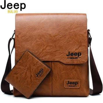 Leather Jeep Messenger Bags For Men