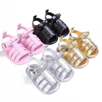 0 18 months plain pu leather baby moccasins child summer girl boy sandals crib shoes a  number 1