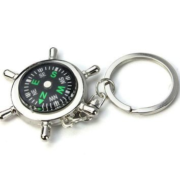 Nautical Compass Helm Keychain