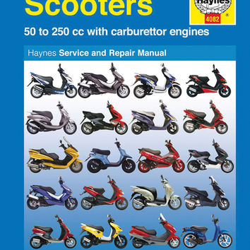 Haynes M4082 Repair Manual for Twist and Go (automatic transmission) Scooters 50