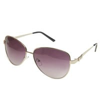 Bow Side Aviator Sunglasses | Wet Seal