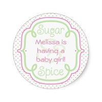 Custom Sugar and Spice Baby Shower Baby Girl
