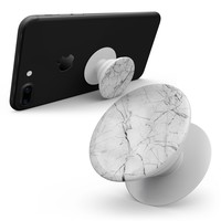 Cracked White Marble Slate - Skin Kit for Pop Sockets and other Smartphone Extendable Grips & Stands
