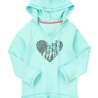 Sequin Heart Hooded Pullover