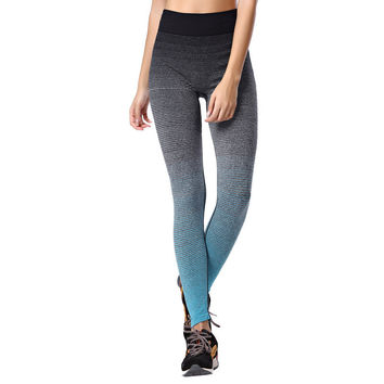 Vertvie Yoga Pants Women High Waist Strip Pattern Skinny Running Sport Leggings Breathable Stretched Cropped Gym Fintess Tights