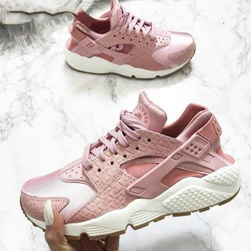NIKE Huarache pink Women Casual Running Sport Shoes Sneakers