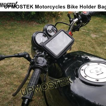 Motorcycle Phone Holder Mobile Stand Support For iPhone 4 5S 6 6S 7 Plus GPS Bike Holder With Waterproof Bag Soporte Movil Moto