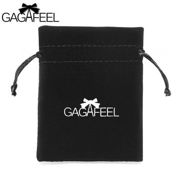 GAGAFEEL Lacing Bag For Fine Jewelry Packing Gift 10x8cm Display Bag For Beads Ring Bracelets Necklaces Chains Earrings Brooches
