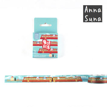 Japan Anime Train Washi Tape, Totoro Washi, Studio Ghibli Washi, Doraemon Washi, Bullet Journal, Spirited Away Washi, No face Washi