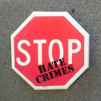 "Vintage '80s NOS Button unworn/ deadstock ""Stop hate crimes"""