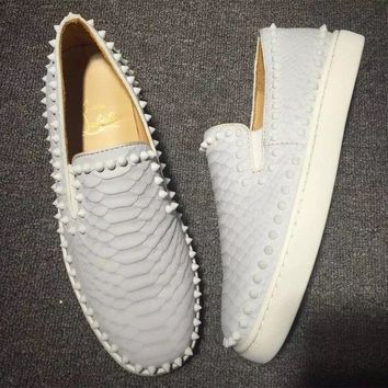 Cl Christian Louboutin Pik Boat Style #2299 Sneakers Fashion Shoes - Best Deal Online