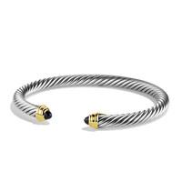 Cable Classics Bracelet with Black Onyx and Gold - David Yurman