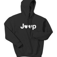 All Things Jeep - Jeep Hearts Adult Hooded Sweatshirt
