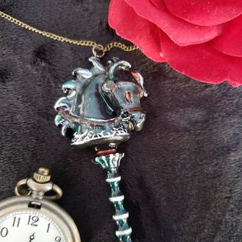 Hobbyhorse Alice the Madness Returns polymer clay necklace