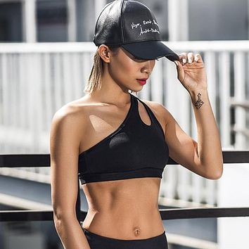Sexy One Shoulder Sports Bra