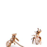 Jeweled Ant Earrings