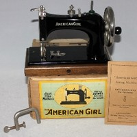1950s American Girl Sewing Machine, Childs Sewing Machine