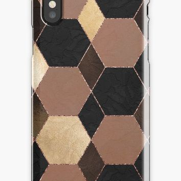 'Dark Elegant Girly Pattern' iPhone Case by Quaintrelle