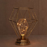 Serena Geo Caged Table Lamp - Urban Outfitters