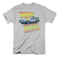 Back To The Future Men's  88 Mph T-shirt Silver