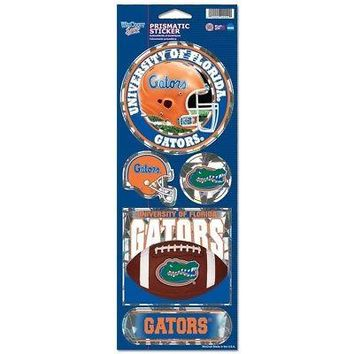 """Licensed Florida Gators Official NCAA 10.5 x 4"""" Prismatic Car Decal Set Fla by Wincraft KO_19_1"""