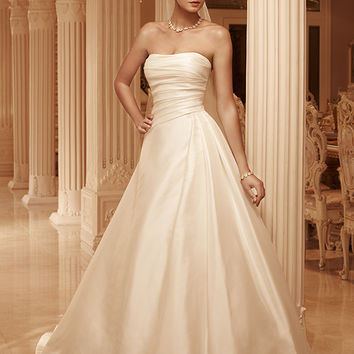 Casablanca Bridal 2101 Strapless Satin A-Line Wedding Dress