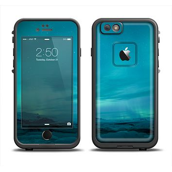 The Teal Northern Lights Apple iPhone 6 LifeProof Fre Case Skin Set