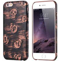 6s Plus 3D Skull Cool Phone Cover For Apple iphone 6 Plus 6S Plus PU Leather Anti-Skid Shell Slim Back Case For iphone 6s Plus