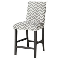 Uptown Counter Stool - Grey & White Chevron