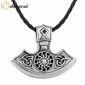 Norse Viking Axe Pagan Pendant Slavic Amulet Celtic Knot Talisman Jewelry for Birthday Gift
