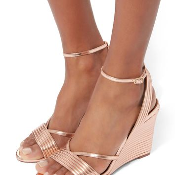 Sundance Wedge Ankle Strap Sandals