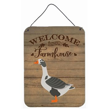 West of England Goose Welcome Wall or Door Hanging Prints CK6839DS1216