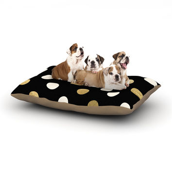"KESS Original ""Golden Dots"" Black Gold Dog Bed"