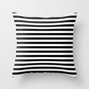 #13 Lines Throw Pillow by Minimalist Forms